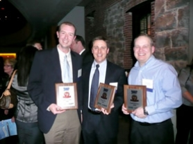 by: , Jeff Cronn, Roger Mills and Todd Johnston pose with the plaques they received after being named in Portland Business Journal's 40 Under 40 list. The three went to school together at Bryant, Waluga and Lakeridge schools before separately going on to become successful businessmen.
