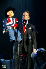 by: courtesy of Las Vegas Hilton, Terry Fator picked up a book on ventriloquism at age 10, and thus began a lifelong fascination. The difference now is that he makes money at it.