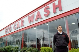 by: Lance Kramer, Eco Car Wash owner Joey Hanna, 34, says he's proud to carry on his family's car-wash legacy, with attention to environmental consciousness and sustainable business practices.
