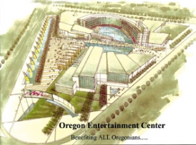 by: COURTESY OF OREGON ENTERTAINMENT CENTER, Plans for a casino complex in Wood Village can't proceed until voters give the OK by changing the state constitution. To get their initiative on the fall ballot, the casino's backers would need to gather thousands of signatures by July 3 – a task some observers say is almost impossible at this date.