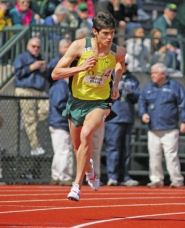 by: ©2008 GEOFF THURNER, Joaquin Chapa came to run for UO, his father's alma mater, after graduating from Stanford with a year of eligibility remaining.