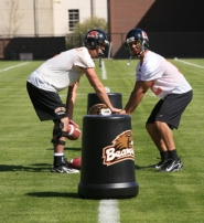 by: COURTESY OF OREGON STATE UNIVERSITY, QB Ryan Katz (right) joined the Oregon State football team this spring after graduating early from Santa Monica (Calif.) High School.