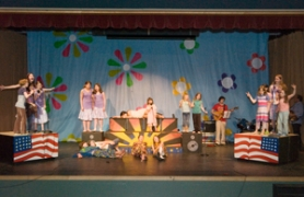 "by: John Klicker, The Corbett Childrens Theater fairies sing ""A Little Help From My Friends"" during the group's rehearsal Saturday, April 12. The production of Shakespeare's classic ""A Midsummer Night's Dream"" has been joined with music from The Beatles."
