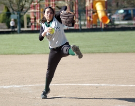 by: Zack Palmer, Gaston junior Katrina Rios winds up to deliver a pitch during Friday's league doubleheader against Knappa.