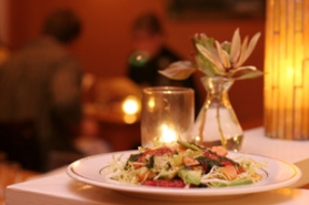 by: KATIE HARTLEY, Lovely Hula Hands' regularly changing menu offers hard-to-choose-from dishes such as this trout, blood orange and avocado salad with mint oil dressing.