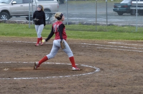by: Darrell Jackson, Courtney Brown fires a strike during the Pioneers 2-1 loss to David Douglas