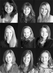 by: Contributed photo, From left to right top row are: Gizelle Polanco, Jeana Taylor and Kate Lierow. From left to right middle row are: Katie Vincent, Lily Adams and Maddy Sorensen. From left to right bottom row are: Megan Cottle, Samantha McVicker and Sophia Bailey.