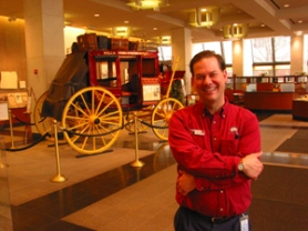 by: Janie Nafsinger, Steve Greenwood is curator of the Wells Fargo History Museum in downtown Portland, where the centerpiece is an 1854 stagecoach.