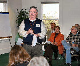 by: David F. Ashton, Daniel J. Hebert, Wastewater Engineering, City of Portland Bureau of Environmental Services, served as the chief spokesman during the well-attended Sellwood meeting.