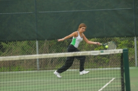 by: Vern Uyetake, West Linn freshman Amanda Wagner won her match at second singles on Monday, helping the Lions top Lake Oswego.