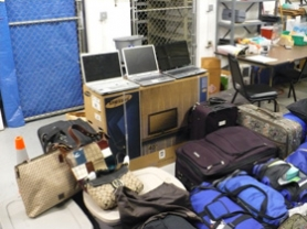 by: Lake Oswego Police Department, Here is some of the property recovered in an investigation by Lake Oswego Police into the identity theft of an 89-year-old Lake Oswego woman. One person, a Tualatin resident, has been charged in the case.
