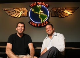 by: Jaime Valdez, Lake Oswego restaurateurs, Todd Braden, left, and Ian Olsen, right, will open their second Pizza Schmizza restaurant in Westlake Village this week.