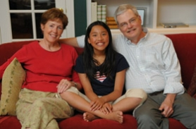 by: Vern Uyetake, Nancy and Mike O'Hara moved to Portland just so Katie could attend The International School.