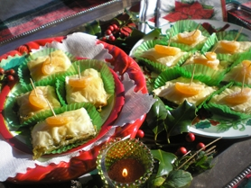by: Barb Randall, Alice Richmond's Armenian Spinach Bureck were festively presented for the competition.
