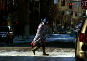 "by: Tribune File Photo, A man draped in blankets makes his way through Old Town towards Blanchet House, which serves the homeless. Homelessness is increasing in Portland, and a former city official says Portlanders can't forget that ""we need to look out for each other."""