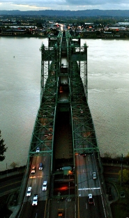 by: L.E. BASKOW, Traffic flows into Vancouver, Wash., over the Interstate Bridge late in the day. Letter writers respond to an Oct. 15 Portland Tribune editorial agreeing with Congressman Peter DeFazio's claim that $4 billion is an unaffordable price tag at this time to improve the Columbia River Crossing.