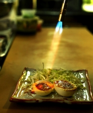 by: L.E. BASKOW, Miho Izakaya taking root in the Overlook neighborhood features Japanese food geared toward American tastes. The menu includes pork belly and sweet egg dish being prepared with flame (pork to come).