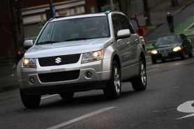 by: JAIME VALDEZ, The Grand Vitara is handsome around town and ready to leave the  