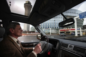 by: JAIME VALDEZ, George Balaesh was a pilot in Romania, but he drove trucks and taxis and did other odd jobs in Portland until he bought a Lincoln Continental in 1997 and went into business as a town car operator. That was before the city imposed permit limits, a topic of much debate recently.