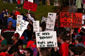 by: L.E. BASKOW, Hundreds from the Benson school community marched in opposition and rallied against the school district's high school redesign proposal in May. Readers weigh in on the fate of Benson, which under the redesign plan would  convert from a four-year program into a two-year, half-day career technical center for students districtwide.