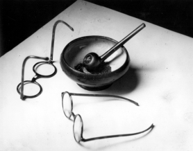 by: © 1926 André Kertész, Mondrian's Glasses and Pipe, Paris, Charles A. Hartman Fine Art will show 25 works by master photographer André Kertész through Aug. 28.