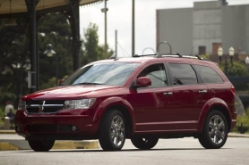 by: CHRISTOPHER ONSTOTT, The 2010 Dodge Journey R/T combines the looks of a sporty crossover with the carrying capacity of a seven-passenger minivan.