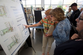 by: CHRISTOPHER ONSTOTT, PCC staff and students review prospective designs that would double the size of the college's Southeast Center, on Southeast Division Street and 82nd Avenue.