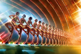 "by: COURTESY OF Madison Square Garden Entertainment, The world famous Radio City Rockettes promote their upcoming ""The Rockettes Radio City Christmas Spectacular"" tour Dec. 23-26 at the Rose Garden."