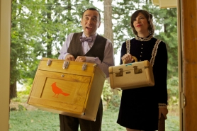 "by: Courtesy of IFC Saturday Night Live's Fred Armisen and Carrie Brownstein, Portland resident and guitarist for Sleater-Kinney, create art when they ""put a bird on it"" during an episode of their new IFC series ""Portlandia."""