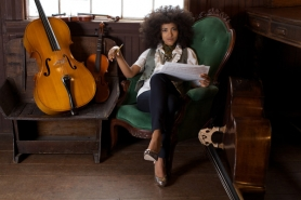 by: Courtesy of Sandrine Lee Portland's Grammy-winning bass player Esperanza Spalding brings her standup bass to town as the official artistic and community ambassador for the 2011 Portland Jazz Festival, Feb. 18-27.