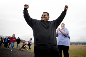 by: Christopher Onstott Arthur Wornum of Portland has achieved some personal victories in his weight-loss campaign, starting at 646 pounds after years of bad eating habits and recently dropping to 340. He vows to win