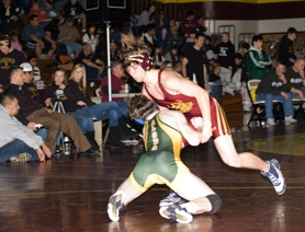 by: Chase Allgood Bryce Turnbull, seen here at the 2010 Bob Beisell Invitational, faced challenges on and off the mat this year.