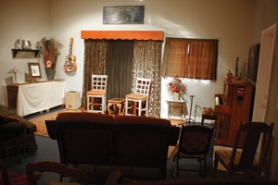 by: Gus Jarvis  The inviting, comforting theater in  McLundy's Green Room.
