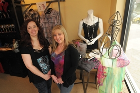 by: VERN UYETAKE Lavish Boutique owners Ann Smith, left, and Lorri Bartlett changed the name of their store, The Lingerie Closet, when they moved from Bridgeport Village to West Linn. They said the new name, Lavish Boutique, more accurately reflects the wide range of products their shop offers.