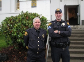 by: Courtesy photo Sgt. Gregg Griffith (right) will be taking over as Rainier Police Chief following former chief Ralph Painter (left) who was killed while responding to a call in early January.