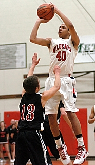 by: Dan Brood SKY HIGH – Westview junior Cole Gatewood goes up over the Thurston defense to score on Saturday night.