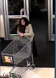 by: surveillance photo This woman has been identified as a suspect in the theft and use of a credit card in Sandy on Feb. 25. Police are asking for any information from local residents.