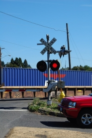 by: anthony roberts There would need to be upgrades to train crossings, like this one at Harrison Street, in order to implement a quiet zone in which trains don't blow their horns.