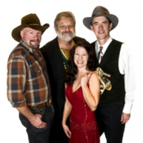 by: Submitted photo Kathy Boyd & Phoenix Rising are (from left) Dennis Nelson, Tom Tower, Kathy Boyd and Tim Crosby. The Tualatin-based group will perform April 2 at the Tualatin Heritage Center at 7 p.m., along with mandolinist Brian Oberlin.