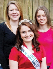 by: Courtesy photo It's time for a dairy ambassador. Erika Atikson (left) and Cheyanne Heesacker (right) are competing for the crown of Rebecca Thomas, outgoing Washington County Princess Ambassador.