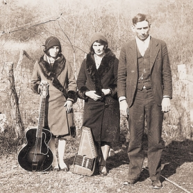 by: Courtesy of Beth Harrington From their first recordings in 1927 until the1940s, the Carter Family gained an international following and became among the first superstars of country music. The original group consisted of A.P. Carter and his wife Sara (center) and Sara's first cousin Maybelle Carter (left) – mother of June Carter, who joined the group in 1939 and later married Johnny Cash.