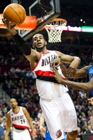 by: Christopher Onstott Trail Blazer forward LaMarcus Aldridge, going for a loose ball in a recent home win over Dallas, deserves the NBA's Most Improved Player award, according to Portland Tribune columnist Kerry Eggers.