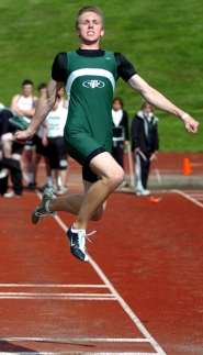 by: DAN BROOD UP, UP AND AWAY — Senior Joseph Hart should be a key competitor for the Tigers in the jumps and sprints.