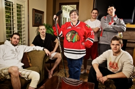by: Jaime Valdez Portland Winterhawks players Brett Ponich (from left), Riley Boychuk, Ty Rattie, Ryan Johansen and Tyler Wotherspoon relax at the Cedar Mill home of Susan Howe, who opens her home to hockey players who come from as far away as Switzerland to play for Portland.