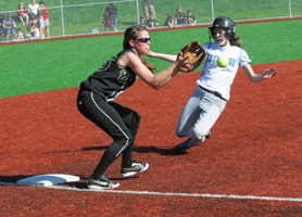 by: VERN UYETAKE Kelly Cohn is one of just two seniors on this year's Lakeridge softball team but the young squad should still be very competitive in the tough Three Rivers League.