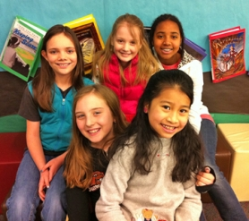 "by: Jennifer Scypinski DON'T MESS WITH THESE FUZZY BUNNIES –Deer Creek Elementary's top team in its first Battle of the Books competition is the ""Fuzzy Bunnies"" - (back row from left) Vivian Britton, Emma Morrison and Dasha Harris plus (front row from left) Hailey Brill and Yun-Shan Lee."