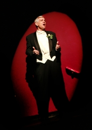by: Craig Mitchelldyer CONSUMMATE PERFORMER – Fred Bishop performs in a prior production at Broadway Rose Theatre Company.