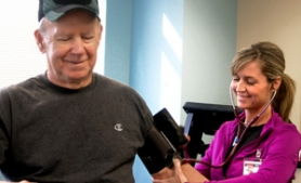 by: Photo courtesy of Legacy Mount Hood Medical Center Cardiac rehabilitation nurse Jill Wright, right, checks Ted Maier's blood pressure during his physical therapy at Legacy Mount Hood Medical Center.
