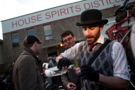 by: Christopher Onstott On a recent Saturday, bicyclists dressed in tweed descended on House Spirits Distillery for a tasting. Billy
