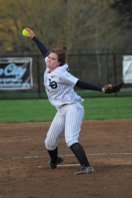 by: Vern Uyetake Lake Oswego's Courtney Huston pitched two scoreless innings and had a key RBI double in the Lakers' 4-1 win over Lakeridge on Monday.